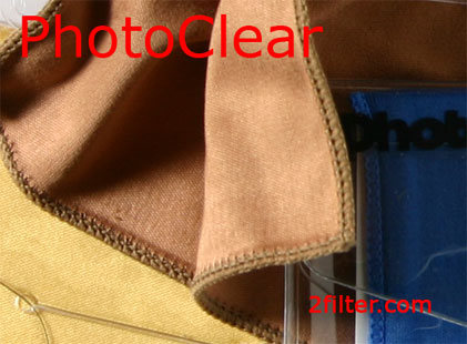 close-up of photoclear cloth