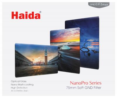 Haida 75mm NanoPro Soft Edge Graduated ND 0.9 3-Stop Filter