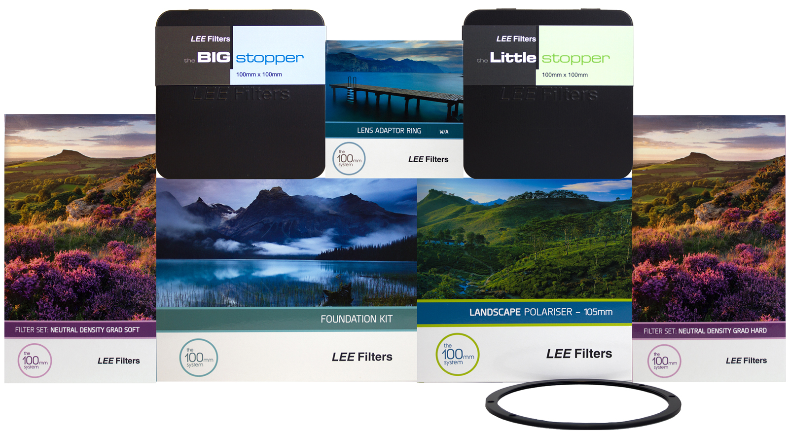 Lee Filters 100mm Filter Kits 100x150 Graduated Nd Soft Set New Ultimate Kit