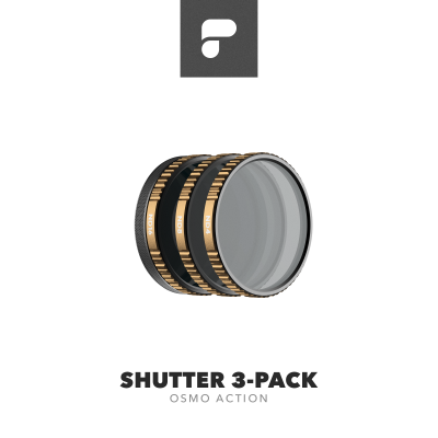 PolarPro Cinema Series Shutter Collection 3-Pack for DJI Osmo Action (ND4, ND8, ND16)